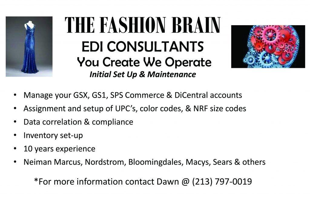 THE FASHION BRAIN    EDI CONSULTANTS We Operate You Create